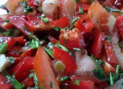 Салат маринованный из помидоров и перцев